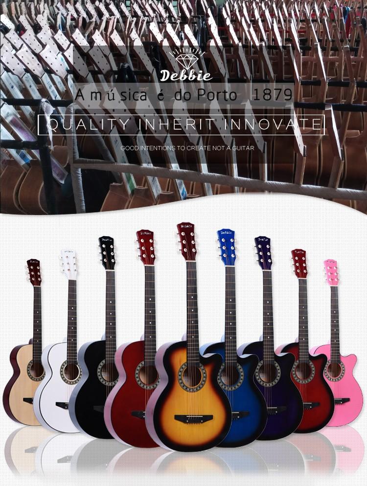 Cheap China Guitar Wholesale,38 inch Acoustic Guitar/Guitarra