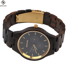 2018 OEM new fashion man women custom logo wholesale waterproof wood bamboo quartz wrist watch