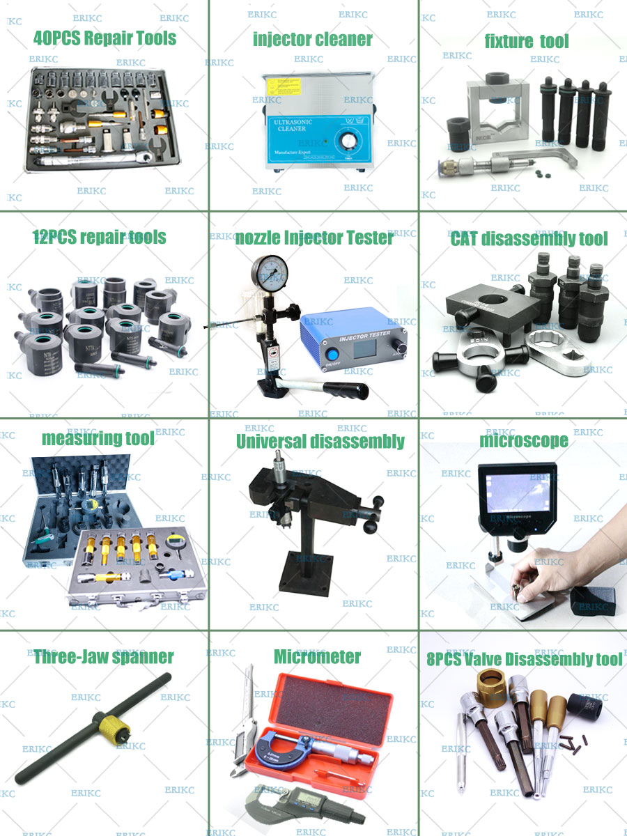 ERIKC common rail injector tools or fuel injector repair tools  for diesel injector repair kits