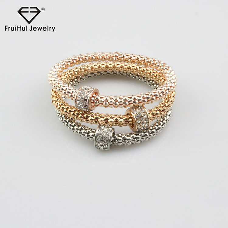 Lady elegant superior cheap man - made diamond bead multilayer thick chain bracelet wire jewellery earn money online beads