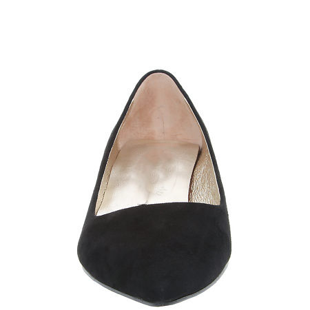New genuine pumps toe pointed single shoes black women leather qfrwtx5Aq