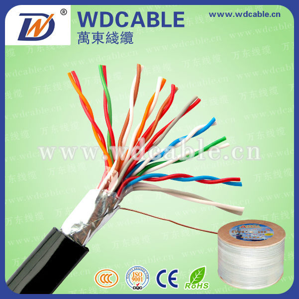 24AWG 0,5mm Solide Kupfer Indoor/Outdoor UTP 30 Paar Telefonkabel
