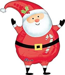 LuftBalloons 18 Inch Joyful Christmas Santa Jr Shape Balloon