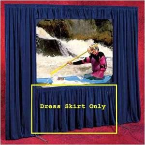"""Skirt for Cinefold Dress Kit Size: HDTV - 161"""" Diag., Color: Black (Standard)"""