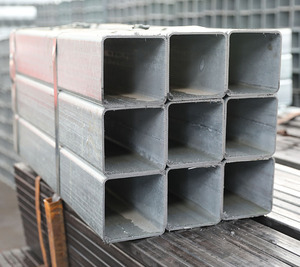 ASTM A500 hot dipped galvanized rectangular and square steel pipe for Construction Material made in Tianjin