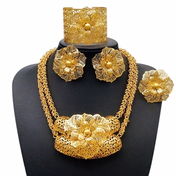 Wholesale Cheap Gold Plating Jewelry Rani Haar Jewelry Set In Latest