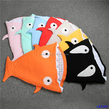 Wholesale Fashion Infant Cotton Sleeping Bag Shark Quilt
