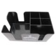Black Silk Printing Logo ABS 6 Compartments Bar Caddy