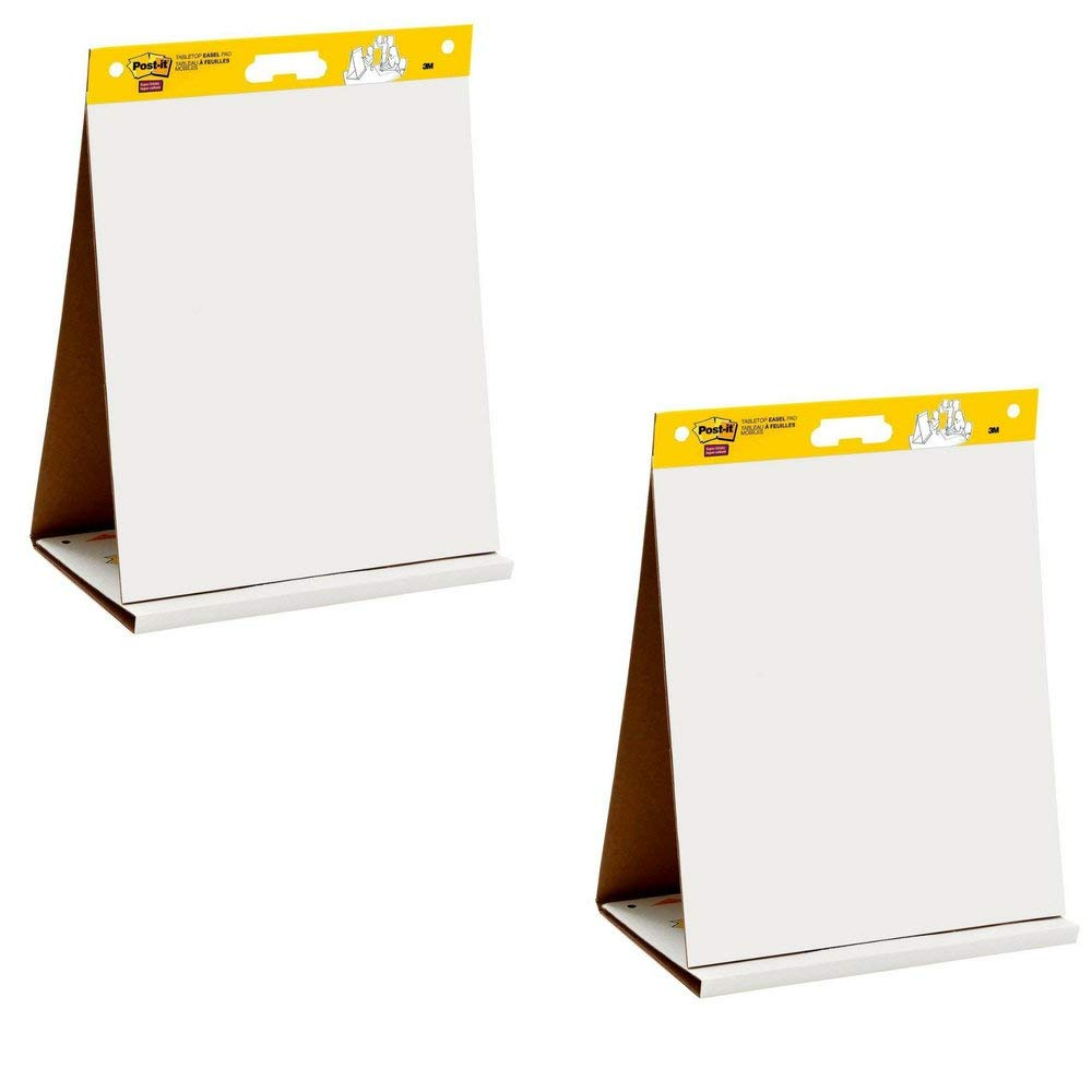 563R 20 x 23 Inches 20 Sheets//Pad 1 Pad Post-it Super Sticky Tabletop Easel Pad Built-in Easel Stand 2 Pack Portable White Premium Self Stick Flip Chart Paper