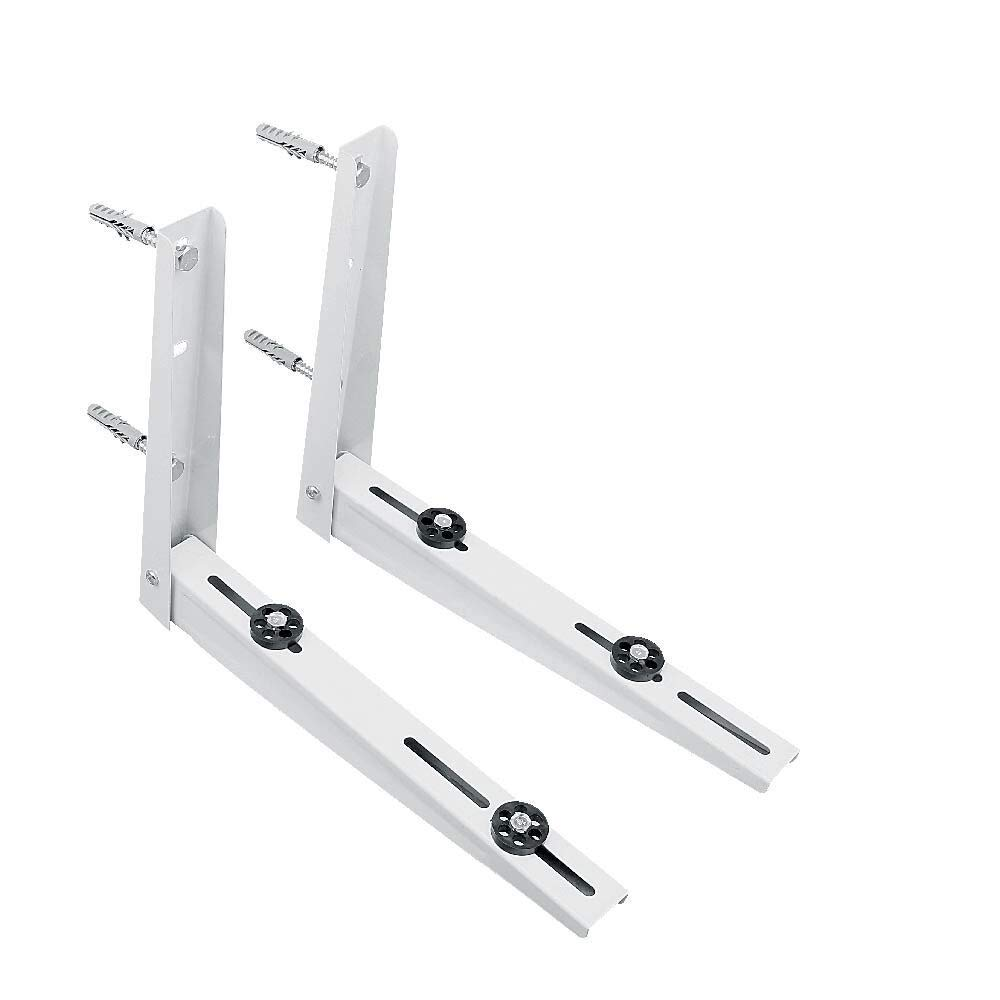 AC Parts Wall Mounting Bracket for Ductless Mini Split Air Conditioner Condensing Heat Pump Systems, Universal, 7000-12000 Btu Condenser, 1-2P, Support up to 264lbs (7000-12000BTU)