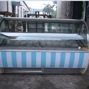 new pastry case/ice cream dipping cabinet