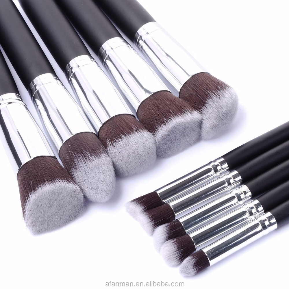 MAKEUP COSMETIC 2018 Wholesale Make Your Own Brand Rosegold Oval Private Label Free Sample 10pcs Set Tooth Makeup Brush