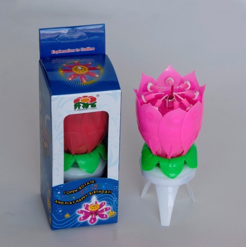 Professional firecraker flower birthday candle flaming flower made in China