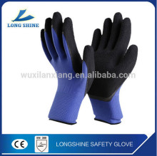 Best Price 13G Firm Grip Palm Cut Resistant Industry Black Latex Coated Acrylic Rubber Hand safety Gloves