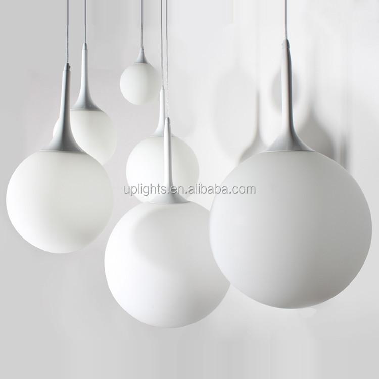 White Glass Pendant Led Decoration Light Egg Shaped Glass Light ...