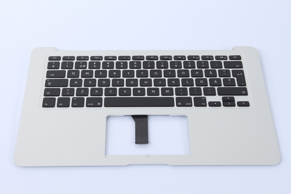 New A1369 A1466 Sweden Swedish keyboard Top Upper Topcase For Macbook Air 13'' 2013-2015 Year