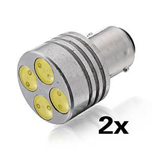 SODIAL(R) 2X 1157 BAY15D 4 SMD HID Xenon LED 4W Car White Stop Tail Brake Light Lamp Bulb
