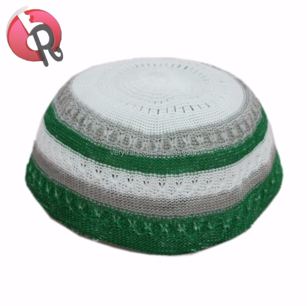 Elástico Kufi sombrero cráneo tapa sombrero con ondulado roscado en ...
