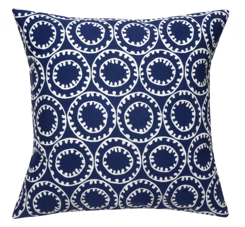 Get Quotations Blue Decorative Pillows Throw Nautical Decor Beach House Coastal Boat Bell 18 Inch