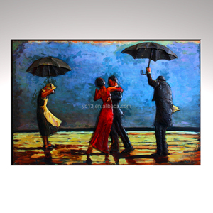 Metallic Vintage Wall Art we are dancing in the umbrella 3D Painting