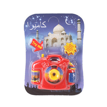 Hot sale of Arabic plastic projection camera for kids with light