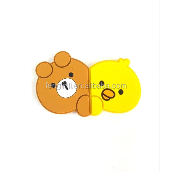 Cartoon Duck Bear Stereo Fridge Magnets OEM Guangdong Manufacture
