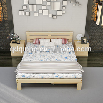 Hotel Solid Wood Pine Bed With Drawers Hotel Bedroom Wooden Bed Guestroom Double Bed Buy Wooden Double Bed With Drawers Sleeping Double Bedroom