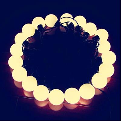 warm white led christmas lightsball type40mm diameter5m 20led ball string - Ball Christmas Lights