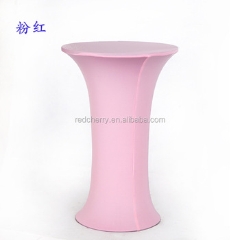 Spandex Tail Table Cover Round Decorative Bar Covers