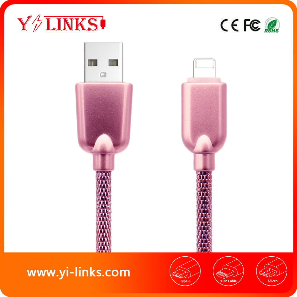USB type c Cable Full Matel Jacket Made For Iphone USB cable