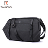 2019 Factory bottom price black smart nylon fashion shoulder waterproof laptop shoulder men sling bag for men