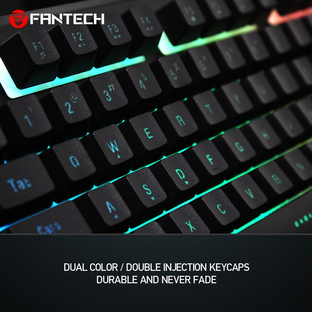 e60c39bf74f Fantech Professional 104 Keys Membrane RGB Metal Body Gaming Keyboard K612  SOLDIER