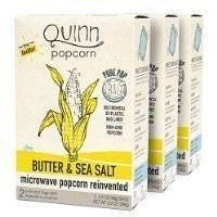 Quinn Popcorn: Microwave Popcorn Butter and Sea Salt - Great Snack Food for Movie Night {Butter & Sea Salt, 3... Thank you for using our service