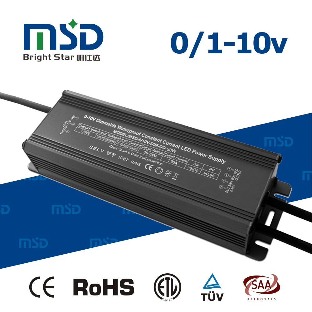 Waterdicht 0-10 V Pwm Dimbare Led Driver Constante Stroom Led ...