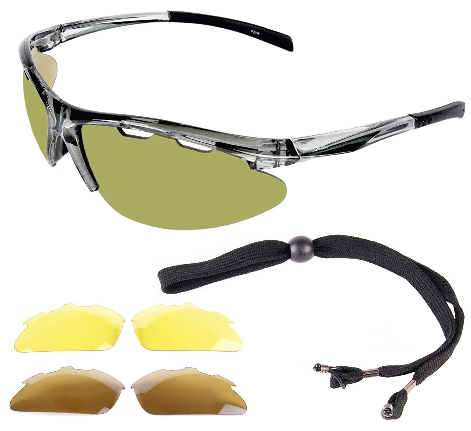 f3d6f7a4ec61 Get Quotations · Rapid Eyewear Fore Lightweight TR90 POLARIZED GOLF  SUNGLASSES for Men & Women With Interchangeable Lenses inc