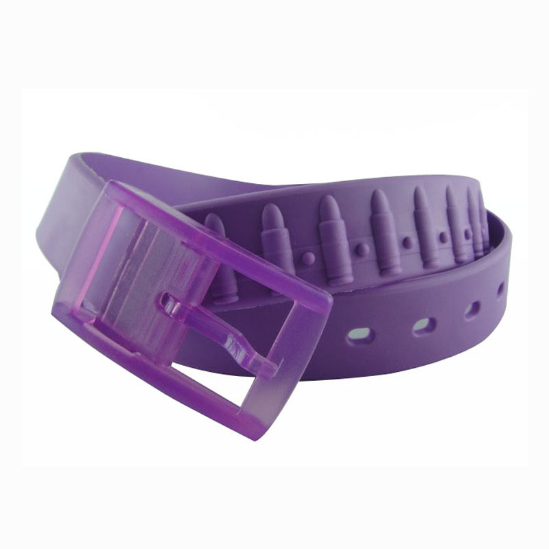 Unisex trendy colorful wholesale silicone belt