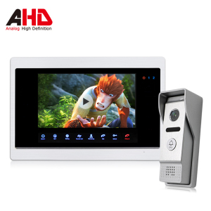 Bcomtech New Arrival with Motion Detection & Voice Messaging Video Intercom System 7inch ahd monitor
