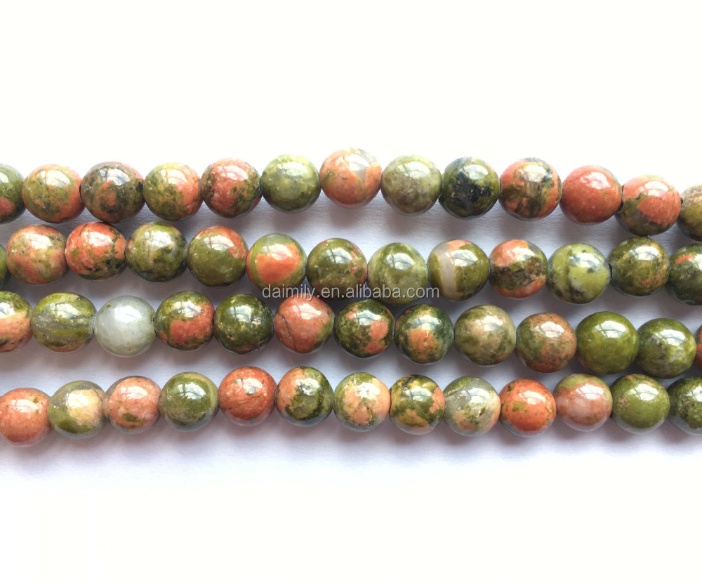 itm unakite jasper rubyca loose jewelry beads epidote making round gemstone natural