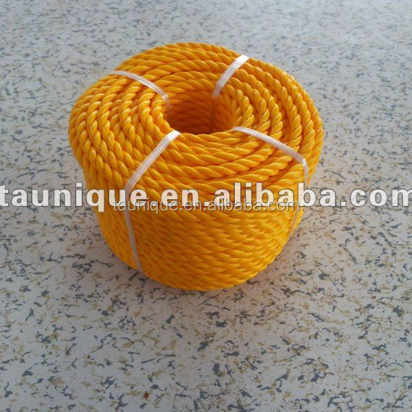 yellow 6mm*20m nylon twisted cheap Rope