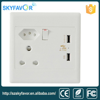 High Quality South Africa Wall Socket Outlets Electric Switch And Modern Usb Power