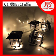 2017 popular designed for home decoration battery operated holiday products iron pandent led light chain