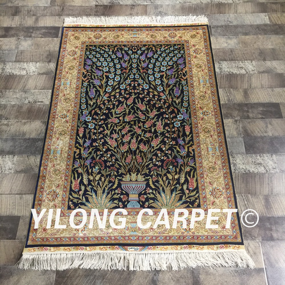 Chinese Silk Carpets Price Yilong 3 X4 5 Handmade Persian Style Rug