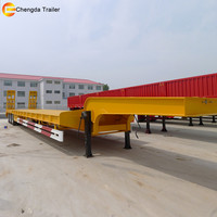 Step Frame Quad Axle Fixed Neck High And Lowboy Rise Tow Flatbed Trailer for sale