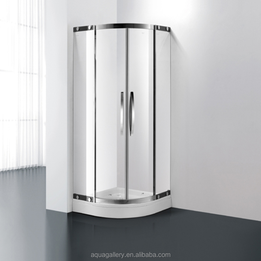 Salle de bains coin en verre tremp salle de douche salle for Bain douche en coin