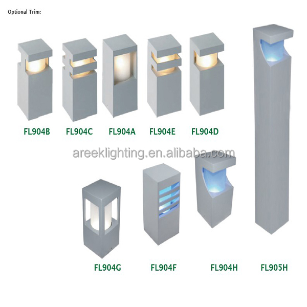 Modern Design Aluminum Outdoor Led Garden Light Pole Post Garden Lamp Led Lan