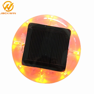 8 PCS LEDs PC Material Reflective Solar Cat Eyes Road Studs