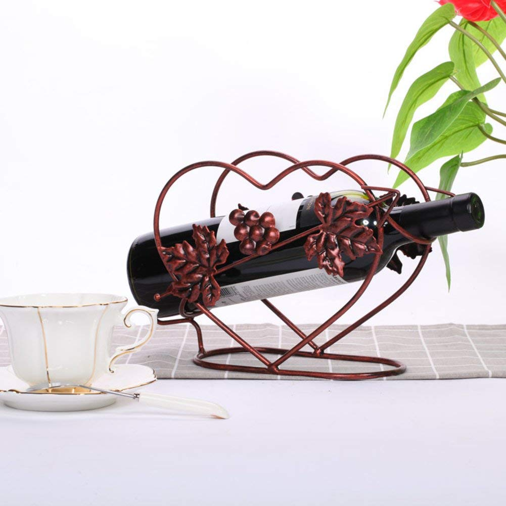 TY&WJ [modern] Simple Wine bottle holder [iron] Creative Stylish [decoration] Wine shelf [household] Decoration Decoration Bar Wine display Stands gifts Premium wine rack-R