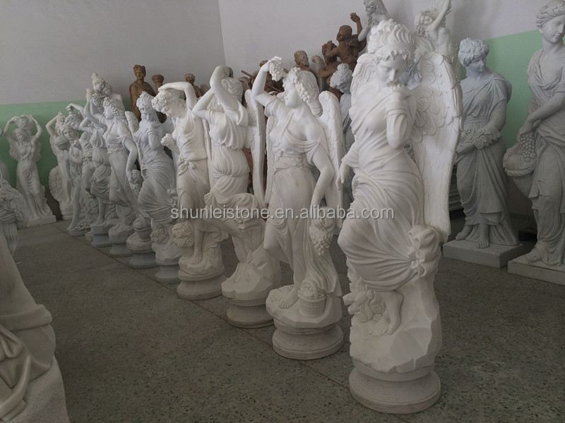 large angel statues