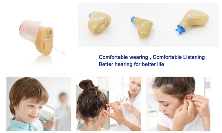 Digital mini cic invisible in ear ear sound amplifier hearing aids