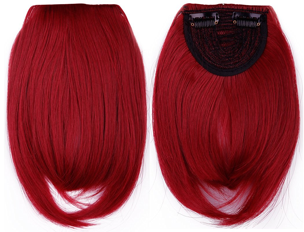 Buy S Noilite7 Inches Dark Red One Piece Clip In Front Bangs Fringe